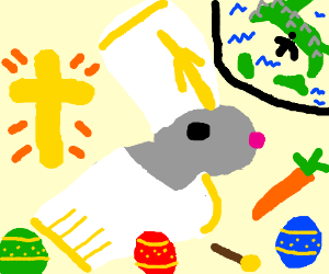 easter bunny pope