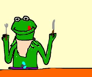 kermit eats the fly
