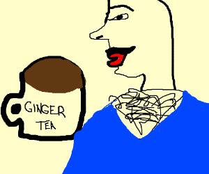 some guy teabagging a fat ginger