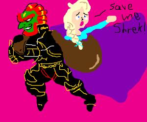 Ganondorf settles for kidnapping Princess Elsa