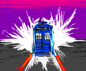 """""""Back to the Future"""" / """"Doctor Who"""" crossover."""