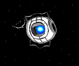 Wheatley floating in space says he's sorry...