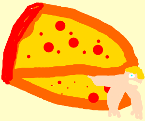 pizza monster going to eat human