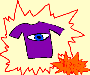 The eye shirt. Only available in purple
