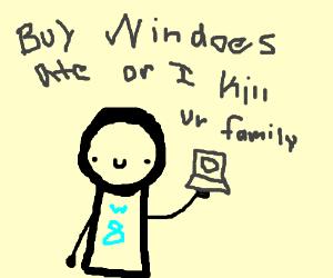 Salesperson INSISTS on Windows 8