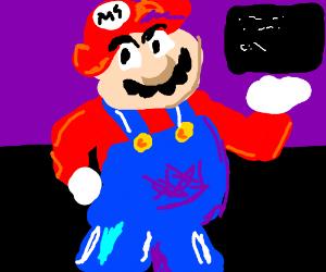 Mario is serving MS-dos