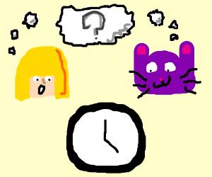 Blondes and Animals just cannot tell time.