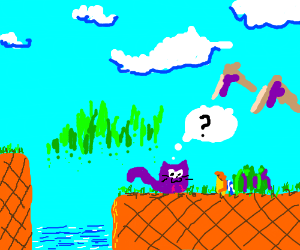 mr cat gets lost in sonic game