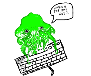 Cthulhu can't find the any key