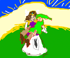 Zelda and Link reverse their roles