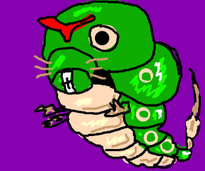 Caterpie and Raticate had  baby- Catercate