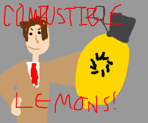 Cave Johnson and his combustible lemons