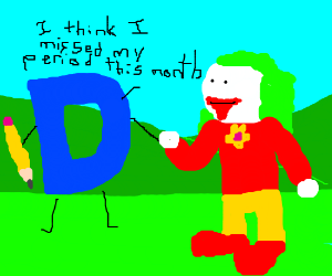Late Drawception d meets clown