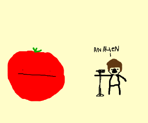Either tomatoes are aliens or JB is performing