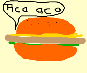 giant hamburger says aca aca