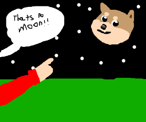 That's no moon! It's a doge!