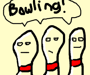 Bowling pins with faces