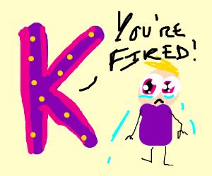 Purple k fires man