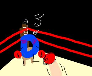 Drawception D gets pummelled in a boxing match
