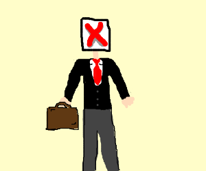 Businessman's head is broken image
