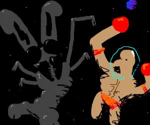 Bugs Bunny vs John Cena in space