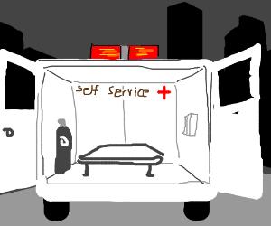 Self-service ambulance