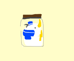 Donald Duck in a Jar