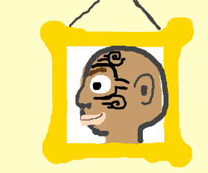 Painting of Mike Tyson's tattoo