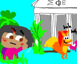 Dora's had enough of Swiper's swiping...