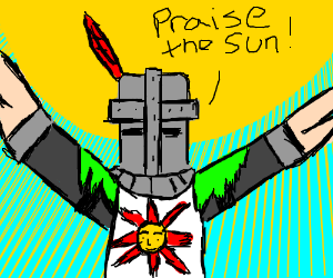 Solaire Praises the Sun