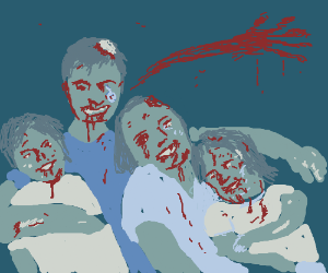 lovely zombie family
