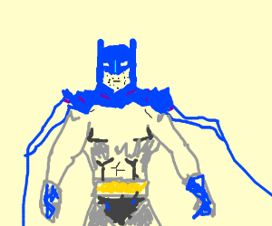 Batman has 5 o'clock shadow