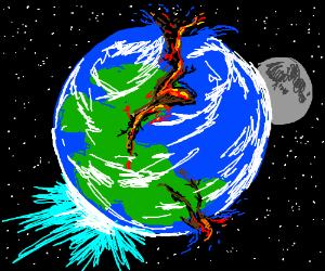 Earth just after Pangaia broke apart