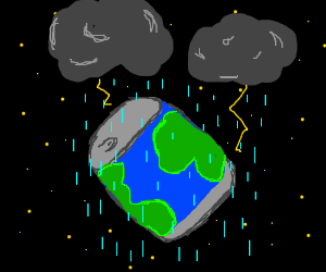 It's raining on canned Earth
