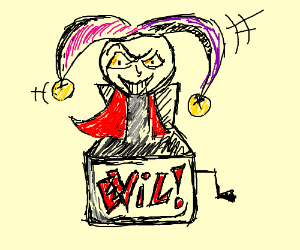 Jack in the box guy turns evil with red cape