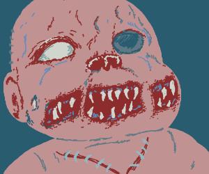 Frankenstein's corpse-demon hybrid baby.