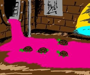 Mutants emerge from radioactive waste.