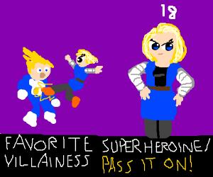 Draw your favorite superheroine/villainess PIO