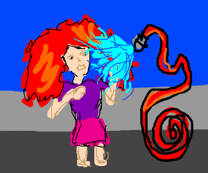 firehose atttacks redhaired woman