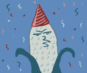 Corn-on-the-Cob Wearing a Party Hat