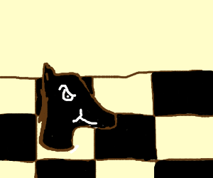 Horse chess piece with r*pe face