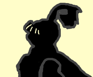 silhouette of a knight