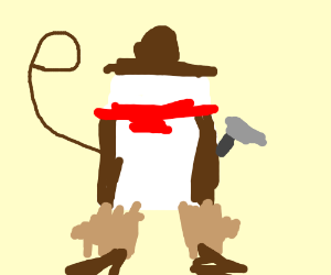 Marshmallow cowboy