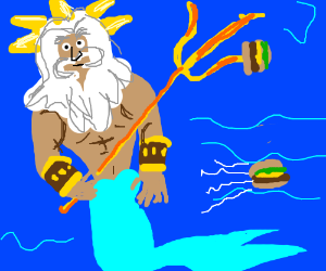 Hamburgers refuse to be grilled by King Triton