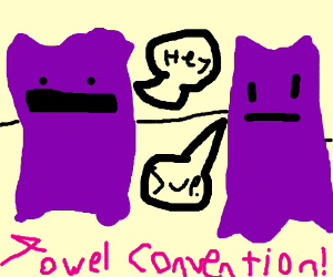 Purple towels meeting
