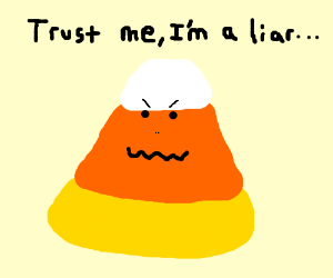 The candy corn is a lie.
