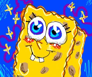 Beautiful drawing of Spongebob.