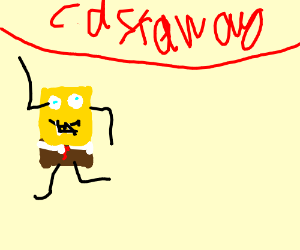 Spongebob stars in Cast Away