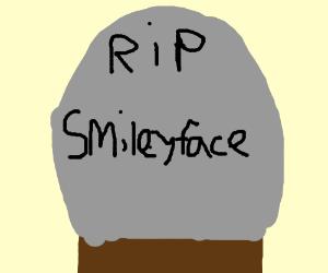 Smileyface's gravestone
