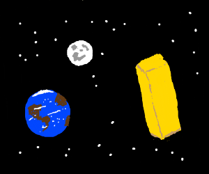 A butter in space, Just that